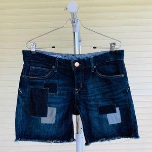 GAP 1969 Denim Patchwork Boyfriend Shorts